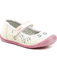 Dětská obuv Peddy PU-618-33-03 bílé dívčí baleríny