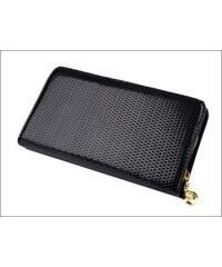 Lesklá černá peněženka