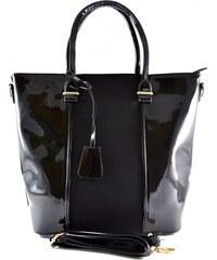 Černá lesklá kabelka Moline 1207