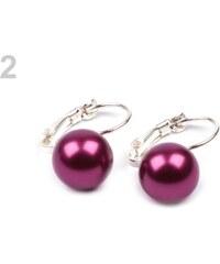 Stoklasa Náušnice s perlou TEREZA fialová sv.