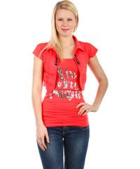 TopMode Krásné bolerko k tričkům a k tílkům růžová