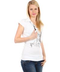 TopMode Krásné bolerko k tričkům a k tílkům bílá