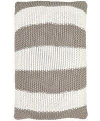 Green Gate Bavlněný pletený povlak na polštář Stripe warm grey