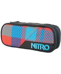 penál NITRO - Pencil Case Plaid Red-Blue (017)