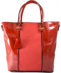 Červená lakovaná kabelka do ruky Luxury 1213