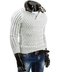 Pánský svetr Wave bílý - bílá