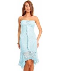 Made in Italy Romantické světle modré šaty HS210