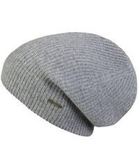 Stetson Villas - pletená kašmírová čepice s vysokou korunou, šedá