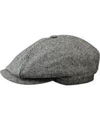 Stetson Morton - plochá čepice z šedého tvídu s kšiltem