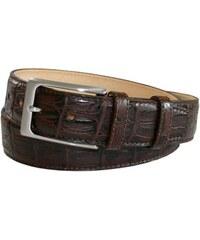 Hnědý kožený pásek s krokodýlím vzorem, Robert Charles
