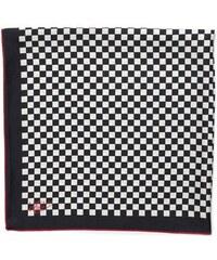 Hedvábný šátek s černou a bílou kostičkou, A Piece of Chic