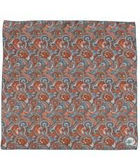 Hedvábný šátek s Paisley vzorkem v modročervené barvě, A Piece of Chic