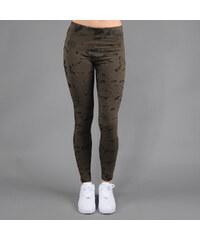 Urban Classics Ladies Acid Wash Leggings tmavě olivové