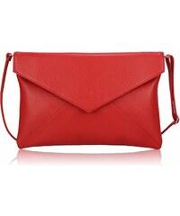 Červené psaníčko LS Fashion LSE00220 červená