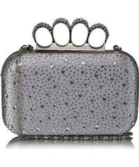 LS Fashion Luxusní stříbrné kamínkové psaníčko s boxerem LSE00119 stříbrná