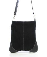 Dámská kabelka černá kožená crossbody - ItalY 10062 černá