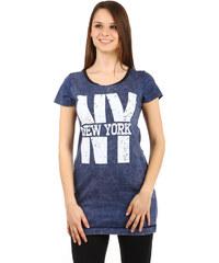 TopMode Krásné dlouhé tričko tmavě modrá