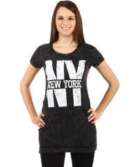 TopMode Krásné dlouhé tričko černá