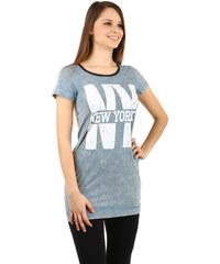 TopMode Krásné dlouhé tričko světle modrá
