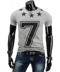 Tričko s krátkým rukávem Woro šedé - šedá