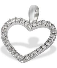 goldmaid Anhänger Herz 585 Weißgold 30 Diamanten 0,16 ct.