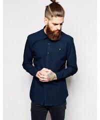 Farah - Schmal geschnittenes Popeline-Hemd - Blau