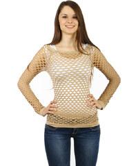 TopMode Úžasné tričko z velkých oček hnědá