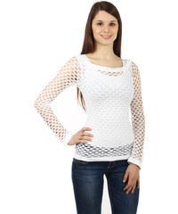 TopMode Úžasné tričko z velkých oček bílá