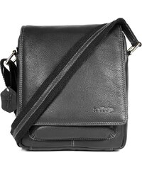 Sendi Design Pánská kožená taška přes rameno SendiDesign IG704 - černá