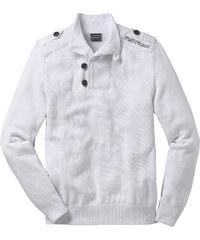 RAINBOW Pullover Slim Fit langarm in weiß für Herren von bonprix