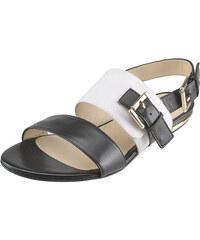 Černo-bílé sandály Solo Femme 42816-01-E02