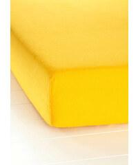 bpc living Drap-housse Flanelle jaune maison - bonprix