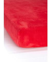 bpc living Drap-housse Velours rouge maison - bonprix