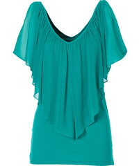 BODYFLIRT boutique T-shirt vert manches courtes femme - bonprix