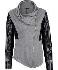 BODYFLIRT boutique Veste sweat-shirt gris manches longues femme - bonprix