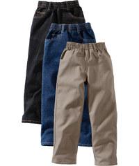 John Baner JEANSWEAR Lot de 3 pantalons relax, XXL noir enfant - bonprix