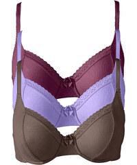 bpc bonprix collection Soutiens-gorge (lot de 3), Bon. D violet lingerie - bonprix