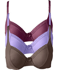 bpc bonprix collection Soutiens-gorge (lot de 3), Bon. C violet lingerie - bonprix