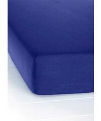 bpc living Drap-housse Jersey Microfibre bleu maison - bonprix