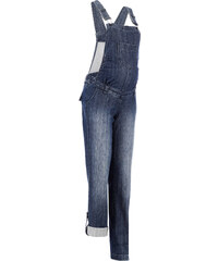 bpc bonprix collection Salopette en jean de grossesse jambes droites bleu femme - bonprix