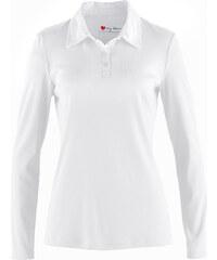 bpc bonprix collection Polo manches longues blanc femme - bonprix