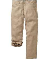 bpc selection Pantalon en lin Regular Fit Straight, N. beige homme - bonprix