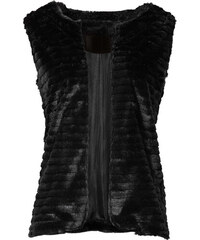 RAINBOW Gilet sans manches en synthétique imitation fourrure noir femme - bonprix