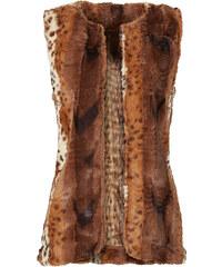 RAINBOW Gilet sans manches en synthétique imitation fourrure marron femme - bonprix