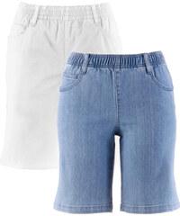 bpc bonprix collection Lot de 2 shorts extensibles blanc femme - bonprix