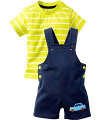 bpc bonprix collection T-shirt bébé + salopette (Ens. 2 pces.) bleu manches courtes enfant - bonprix