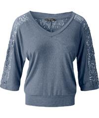 T-shirt manches 3/4 violet femme - bonprix