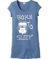 bpc bonprix collection Maxi T-shirt bleu manches courtes lingerie - bonprix