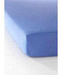 bpc living Drap-housse Jersey bleu maison - bonprix