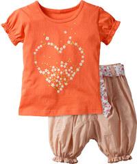 bpc bonprix collection T-shirt + pantacourt (Ens. 2 pces.) rouge manches courtes enfant - bonprix